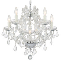 Crystorama 4405-CH-CL-S Maria Theresa 6 Light 20 inch Polished Chrome Mini Chandelier Ceiling Light in Polished Chrome (CH), Clear Swarovski Strass