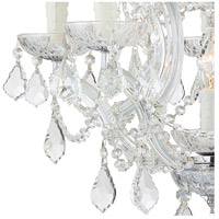 Crystorama 4405-CH-CL-S Maria Theresa 6 Light 20 inch Polished Chrome Mini Chandelier Ceiling Light in Polished Chrome (CH), Clear Swarovski Strass alternative photo thumbnail