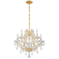 Maria Theresa 6 Light 20 inch Gold Chandelier Ceiling Light in Clear Crystal (CL), Italian Crystals (I), Gold (GD)