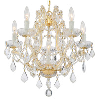 Crystorama 4405-GD-CL-SAQ Maria Theresa 6 Light 20 inch Gold Mini Chandelier Ceiling Light in Swarovski Spectra (SAQ), Gold (GD)