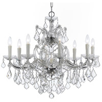 Crystorama 4408-CH-CL-SAQ Maria Theresa 9 Light 26 inch Polished Chrome Chandelier Ceiling Light in Swarovski Spectra (SAQ), Polished Chrome (CH)
