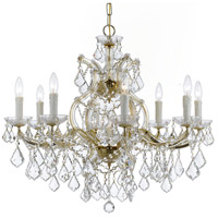 Crystorama 4408-GD-CL-SAQ Maria Theresa 9 Light 26 inch Gold Chandelier Ceiling Light in Swarovski Spectra (SAQ), Gold (GD)