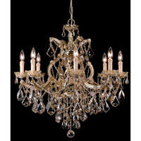 Crystorama Maria Theresa 9 Light Chandelier in Antique Brass, Golden Teak, Hand Cut 4409-AB-GT-MWP photo thumbnail