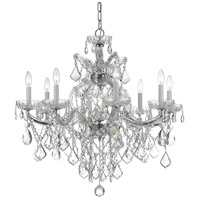 Crystorama 4409-CH-CL-MWP Maria Theresa 9 Light 28 inch Polished Chrome Chandelier Ceiling Light in Polished Chrome (CH) Clear Hand Cut