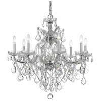 Crystorama 4409-CH-CL-SAQ Maria Theresa 9 Light 28 inch Polished Chrome Chandelier Ceiling Light in Swarovski Spectra (SAQ), Polished Chrome (CH)