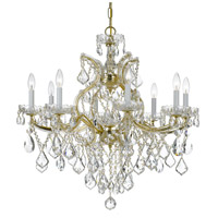 Maria Theresa 9 Light 28 inch Gold Chandelier Ceiling Light in Hand Cut, Gold (GD)