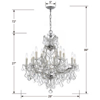 Crystorama 4412-CH-CL-I Maria Theresa 13 Light 29 inch Polished Chrome Chandelier Ceiling Light in Polished Chrome (CH), Clear Italian