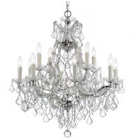 Crystorama 4412-CH-CL-SAQ Maria Theresa 13 Light 29 inch Polished Chrome Chandelier Ceiling Light in Swarovski Spectra (SAQ), Polished Chrome (CH)