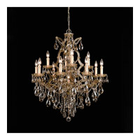 Crystorama Maria Theresa 13 Light Chandelier in Antique Brass, Golden Teak, Swarovski Elements 4413-AB-GTS alternative photo thumbnail
