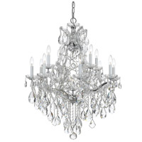 Crystorama Maria Theresa 12 Light Chandelier in Polished Chrome 4413-CH-CL-MWP