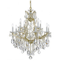 Crystorama 4413-GD-CL-MWP Maria Theresa 13 Light 28 inch Gold Chandelier Ceiling Light in Gold (GD), Clear Hand Cut