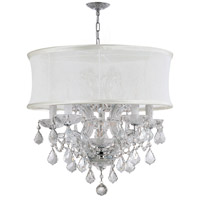 Brentwood 6 Light 20 inch Polished Chrome Mini Chandelier Ceiling Light in Polished Chrome (CH), Smooth Antique White, Clear Hand Cut