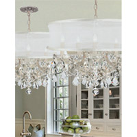 Crystorama Brentwood 6 Light Chandelier in Polished Chrome, Clear Crystal, Hand Cut, Smooth Matte White 4415-CH-SMW-CLM alternative photo thumbnail