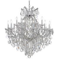 Maria Theresa 19 Light 35 inch Polished Chrome Chandelier Ceiling Light in Hand Cut, Polished Chrome (CH)