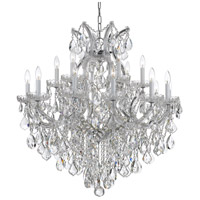 Crystorama 4418-CH-CL-S Maria Theresa 19 Light 35 inch Polished Chrome Chandelier Ceiling Light in Polished Chrome (CH), Clear Swarovski Strass, 18