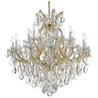 Maria Theresa 19 Light 35 inch Gold Chandelier Ceiling Light in Hand Cut, Gold (GD)