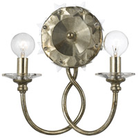 Crystorama Willow 2 Light Wall Sconce in Antique Silver 442-SA
