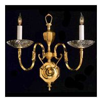 Crystorama Signature 2 Light Chandelier in Polished Brass 442-PB