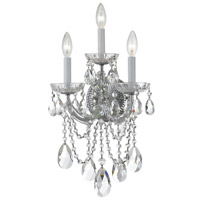 Crystorama Maria Theresa 3 Light Wall Sconce in Polished Chrome 4423-CH-CL-S