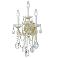 Crystorama Maria Theresa 3 Light Wall Sconce in Gold with Hand Cut Crystals 4423-GD-CL-MWP