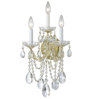 Crystorama 4423-GD-CL-SAQ Maria Theresa 3 Light 11 inch Gold Wall Sconce Wall Light in Swarovski Spectra (SAQ), Gold (GD)