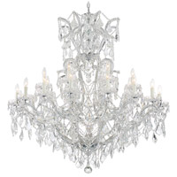 Crystorama 4424-CH-CL-SAQ Maria Theresa 25 Light 46 inch Polished Chrome Chandelier Ceiling Light in Swarovski Spectra (SAQ), Polished Chrome (CH)