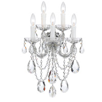 Crystorama 4425-CH-CL-MWP Maria Theresa 5 Light 14 inch Polished Chrome Wall Sconce Wall Light in Polished Chrome (CH) Clear Hand Cut