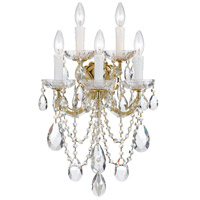 Crystorama Maria Theresa 5 Light Wall Sconce in Gold 4425-GD-CL-SAQ