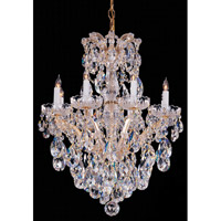 Crystorama Signature 8 Light Chandelier in Gold with Hand Cut Crystals 4428-GD-CL-MWP