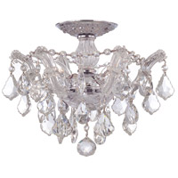 Crystorama 4430-CH-CL-MWP Maria Theresa 3 Light 14 inch Polished Chrome Semi Flush Mount Ceiling Light in Polished Chrome (CH), Clear Hand Cut