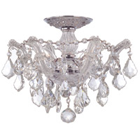 Maria Theresa 3 Light 14 inch Polished Chrome Semi Flush Mount Ceiling Light in Clear Crystal (CL), Swarovski Elements (S), Polished Chrome (CH)