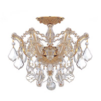 Maria Theresa 3 Light 14 inch Gold Semi Flush Mount Ceiling Light in Clear Crystal (CL), Hand Cut, Gold (GD)