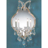Crystorama Signature 2 Light Wall Sconce in Silver 4432-MWP-SILVER