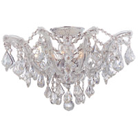 Maria Theresa 5 Light 19 inch Polished Chrome Semi Flush Mount Ceiling Light in Clear Crystal (CL), Hand Cut, Polished Chrome (CH)