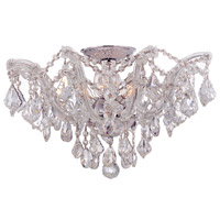 Crystorama 4437-CH-CL-SAQ Maria Theresa 5 Light 19 inch Polished Chrome Semi Flush Mount Ceiling Light in Swarovski Spectra (SAQ), Polished Chrome (CH)
