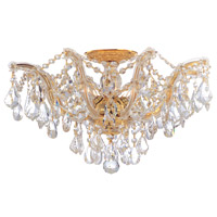 Crystorama 4437-GD-CL-SAQ Maria Theresa 5 Light 19 inch Gold Semi Flush Mount Ceiling Light in Swarovski Spectra (SAQ), Gold (GD)