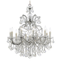 Crystorama 4438-CH-CL-S Maria Theresa 11 Light 29 inch Polished Chrome Chandelier Ceiling Light in Polished Chrome (CH), Clear Swarovski Strass
