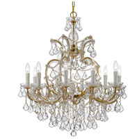 Crystorama 4438-GD-CL-SAQ Maria Theresa 11 Light 29 inch Gold Chandelier Ceiling Light in Swarovski Spectra (SAQ), Gold (GD)