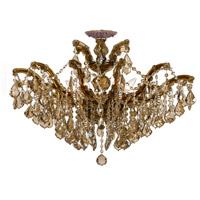 Crystorama 4439-AB-GT-MWP_CEILING Maria Theresa 6 Light 27 inch Antique Brass Semi Flush Mount Ceiling Light in Antique Brass (AB), Golden Teak Hand Cut