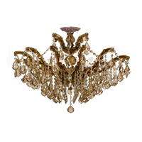 Maria Theresa 6 Light 27 inch Antique Brass Semi Flush Mount Ceiling Light