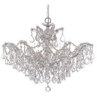 Crystorama 4439-CH-CL-SAQ Maria Theresa 6 Light 27 inch Polished Chrome Chandelier Ceiling Light in Swarovski Spectra (SAQ), Polished Chrome (CH)