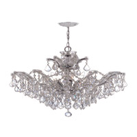 Crystorama 4439-CH-CL-S Maria Theresa 6 Light 27 inch Polished Chrome Chandelier Ceiling Light in Polished Chrome (CH), Clear Swarovski Strass alternative photo thumbnail