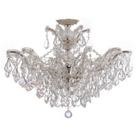 Crystorama 4439-CH-CL-S_CEILING Maria Theresa 6 Light 27 inch Polished Chrome Semi Flush Mount Ceiling Light in Polished Chrome (CH), Clear Swarovski Strass