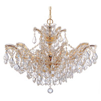 Maria Theresa 6 Light 27 inch Gold Chandelier Ceiling Light in Gold (GD), 12, Clear Hand Cut