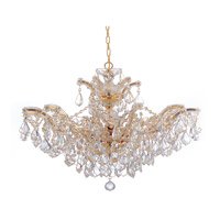 Crystorama Maria Theresa 6 Light Chandelier in Gold, Clear Crystal, Swarovski Spectra 4439-GD-CL-SAQ alternative photo thumbnail