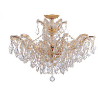 Crystorama 4439-GD-CL-SAQ_CEILING Maria Theresa 6 Light 27 inch Gold Semi Flush Mount Ceiling Light in Swarovski Spectra (SAQ), Gold (GD)