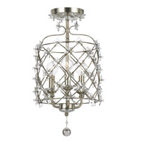 Crystorama Willow 3 Light Flush Mount in Antique Silver 445-SA_CEILING