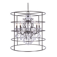 Crystorama Filmore 5 Light Chandelier in Vibrant Bronze, Hand Cut 4450-VZ-CL-MWP