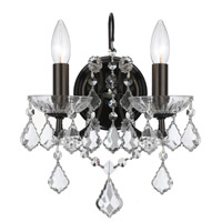 Crystorama Filmore 2 Light Wall Sconce in Vibrant Bronze with Swarovski Elements Crystals 4452-VZ-CL-S