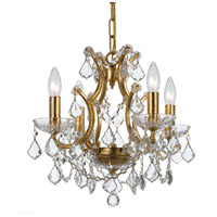 Crystorama Filmore 4 Light Mini Chandelier in Antique Gold 4454-GA-CL-S
